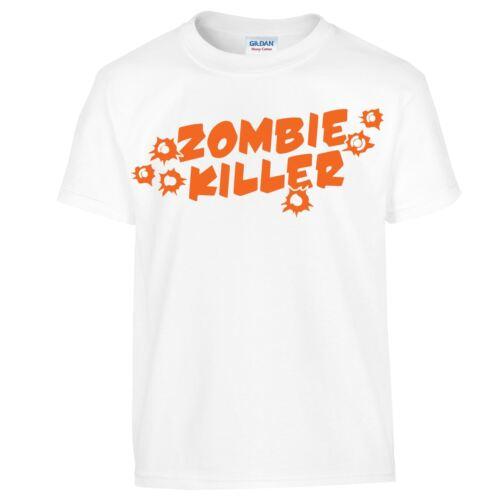 Zombie Killer Gun Shot Mens Kids Wear New Horror New Unisex Casual Tshirt Adult