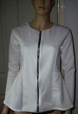 STYLEWISE 60s Logan's Run Style White Flared Zipped Jacket - BNWT UK Made