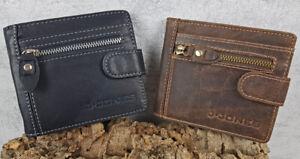 Geldboerse-RFID-Portemonnaie-Echt-Leder-Geldbeutel-Dollar-clip-Herren-Praktisch