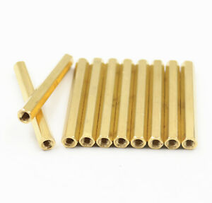 50Pcs M3 Female To Male Brass Hexagonal Stand-Off Pillars PCB Mount