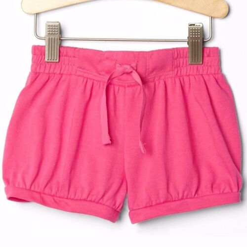 NWT $15 Baby GAP Girls Bubble Cotton Shorts Bright Pink 12 18 months 2T