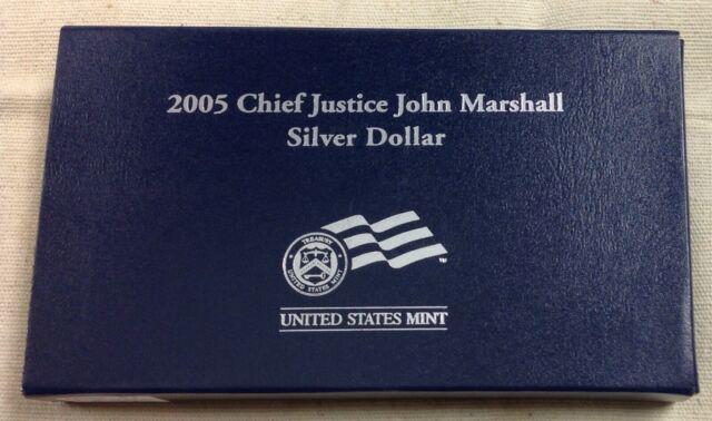 2005 US Mint Chief Justice John Marshall Commemorative Silver Dollar - Proof