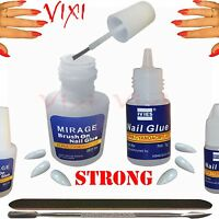 NAIL Art GLUE 3g / 10g STRONG Acrylic False Nails Rhinestones Glitter 2x 5x 10x