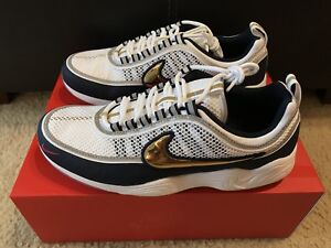 ae0cc36cd3f3 NIKE ZOOM SPIRIDON USA OLYMPIC MEN S sz 10.5 WHITE GOLD OBSIDIAN ...