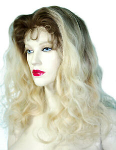 Blonde-Mix-Remi-Remy-Lace-Thin-Skin-Wig-Wigs-Long-Premium-Indian-Hair-T-Color