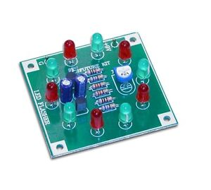 AgréAble 10 Del Light Ring Clignotant Kit Electronics Project Kit De Montage-afficher Le Titre D'origine Jouir D'Une RéPutation éLevéE Chez Soi Et à L'éTranger