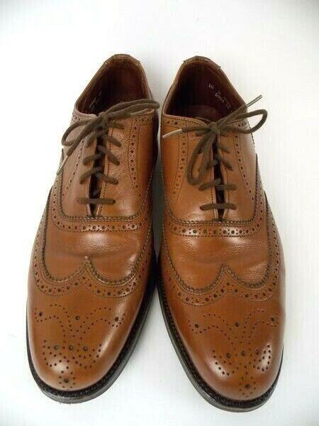 Dack shoes Vintage 1984 Brown Men's Wingtip shoes 150th Anniversary Sz 10D EUC