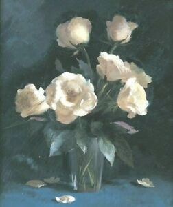 White-Roses-Watercolor-Flowers-Canvas-Picture-Print-30-034-x20-034