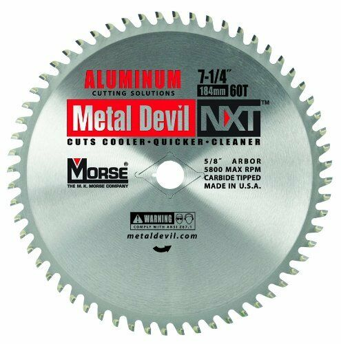 MK Morse CSM72560NAC NXT 7-1//4 inch Aluminum Cutting Circular Blade w// 60 Teeth