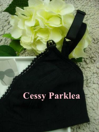 "/"" H /& H/"" Black Wire-free Non-padded Cotton Maternity Bras  AU"