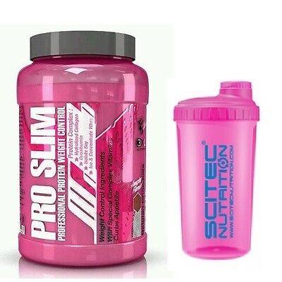 PRO SLIM 1 Kg  Proteinas con quemagrasas  3xl Nutrition FRESA BANANA + SHAKER