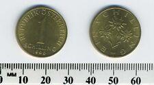 Austria 1990 - 1 Schilling Aluminum-Bronze Pre-Euro Coin - Edelweiss flower