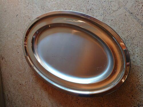 Servierplatte Schale oval aus Edelstahl Pinti 18//10 Italy 42cm