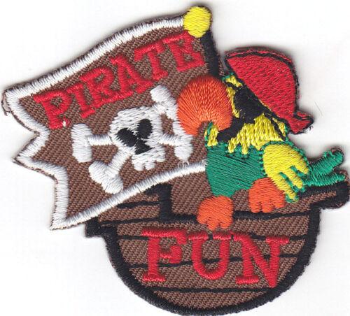 PIRATE FUN Iron On Patch Children Games Fun