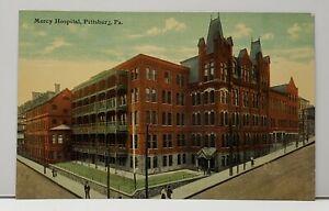 Pittsburgh-Pennsylvania-Mercy-Hospital-Pittsburg-Pa-c1910-Postcard-F20