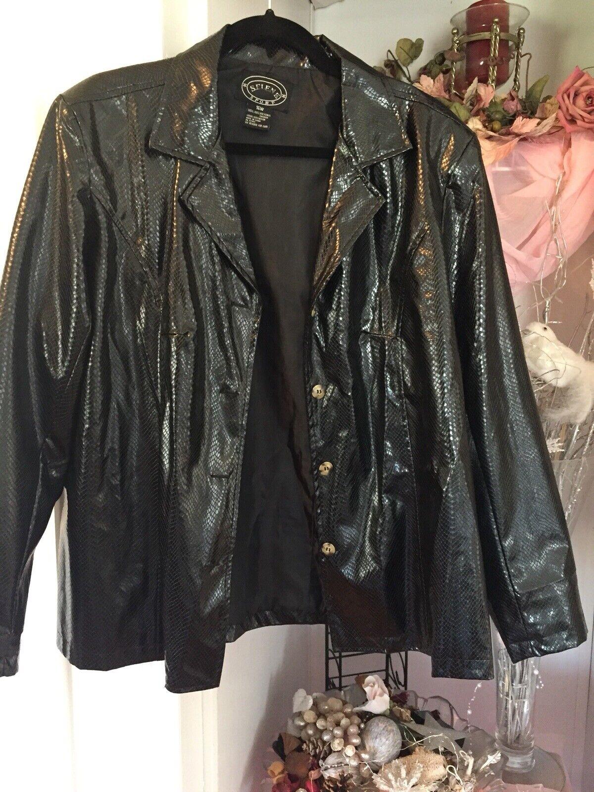 VINTAGE Selene Sport Faux  Snakeskin Jacket Coat … - image 3