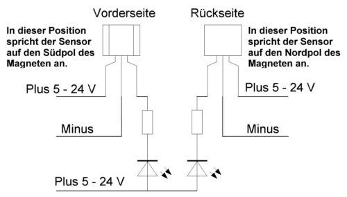 5 x Hall sensore effetto Hall sensore digitale controllo analogico