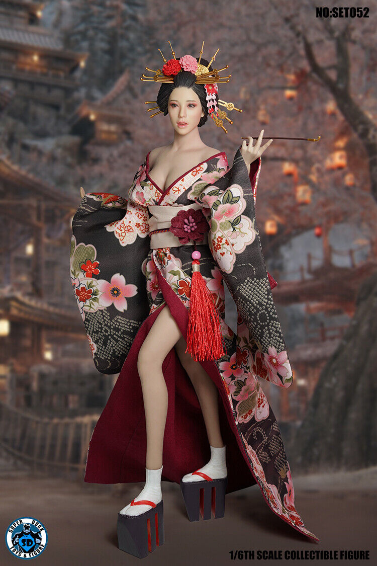 "Handmade 1:6th Clothes 12/"" Female Figure Accessory Japanese Kimono Clothes Suit"