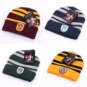 Harry-Potter-Gryffindor-Slytherin-Hufflepuff-Ravenclaw-Muetze-Winter-Hut-Kostuem