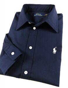 Ralph-Lauren-KENDALL-chemise-femme-slim-stretch-bleu-marine-manches-longues