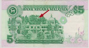 Mazuma *M1253 Malaysia 6th $5 NN8159249 With Cross GEF