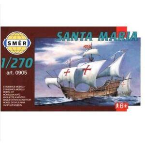 Santa-Maria-Columbus-Navire-1-270-Modele-Plastique-Kit-Smer-0905