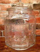 Planters Mr. Peanut Clear 5¢ Pennant Salted Peanuts Octagonal Glass Jar