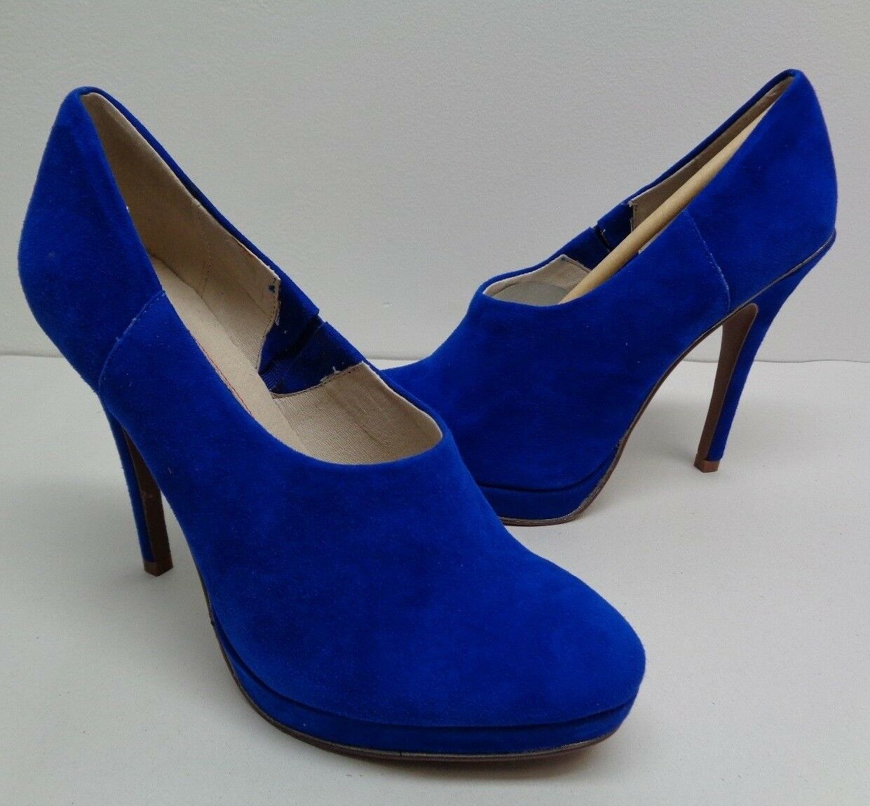 Juicy Couture Size 9 M EYLSSA Electric bluee Suede Suede Suede Heels Pumps New Womens shoes 402969
