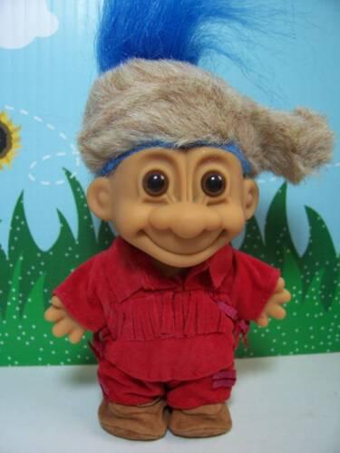 "5/"" Russ Troll Doll NEW IN BAG DANIEL BOONE // FRONTIERSMAN Blue Hair"