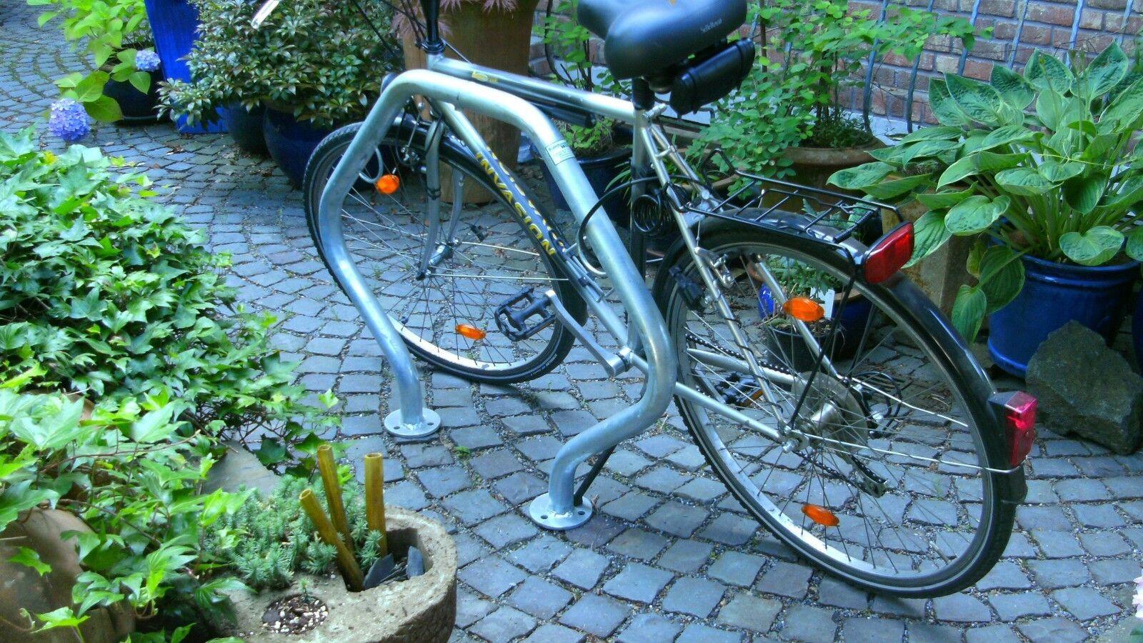 Bicicleta 2 unid anlehnparker  stk. bolardo ciudad muebles abtrenner anlehnbügel