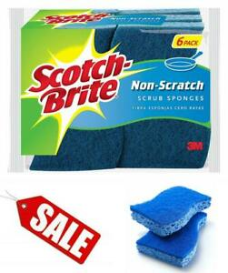 6-Sponges 2 Pack Scotch-Brite Non-Scratch Scrub Sponge