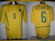Brazil Roberto Carlos Player Spec Adult XL NIKE Shirt Jersey Soccer Brasil Dual