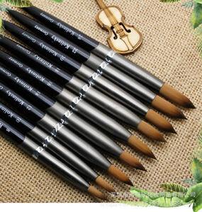 Acrylic Kolinsky Nail Brushes Sizes 8-24 Nail Art Brush SHIPS FROM USA