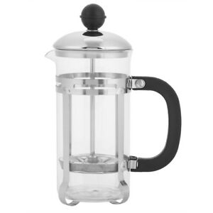 350ml-3-Cup-Stainless-Steel-Glass-Cafetiere-French-Filter-Coffee-Press-Plunger