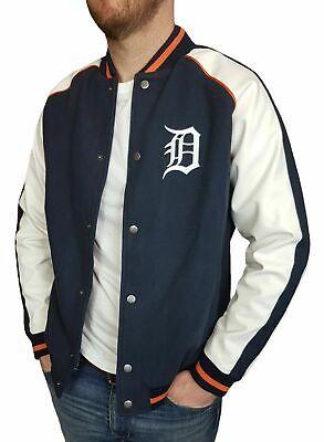 Detroit Tigers Mens Baseball Varsity Jacket Majestic MLB Jersey