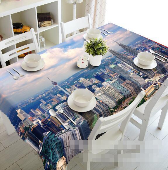 3D City Sky 51 Tablecloth Table Cover Cloth Birthday Party Event AJ WALLPAPER AU