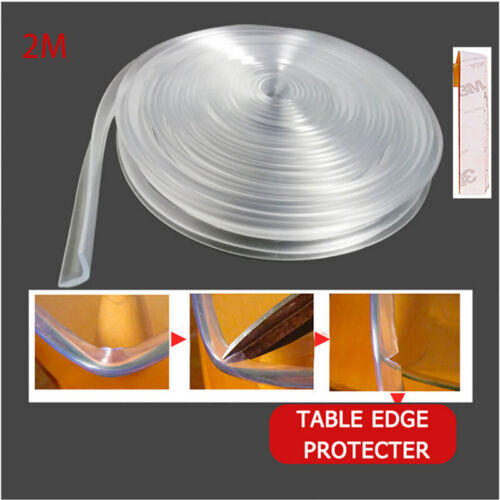 2PCS Baby Toddler Safety Proofing Table Edge Guard Silicone Protector Corners 2M