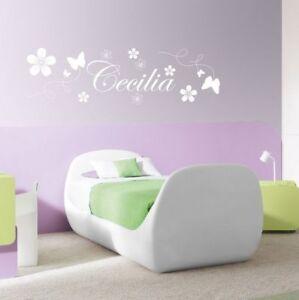 Stickers Parete Personalizzati.Dettagli Su Wall Sticker Adesivi Murali Personalizzati Nome Bambino Cameretta Bambini A0033
