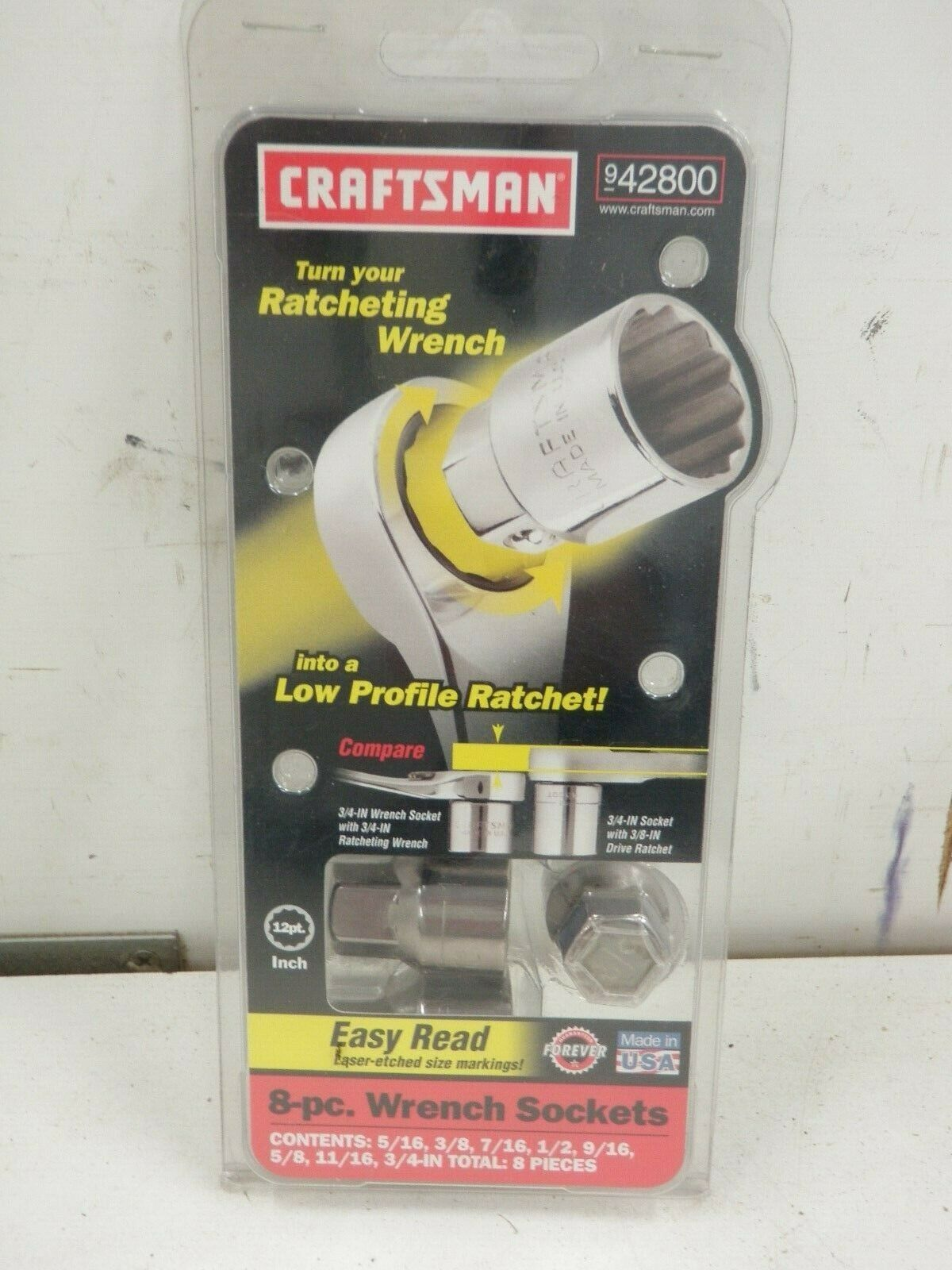 Craftsman 8 Piece Wrench Sockets   42800