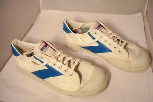 White \u0026 Blue Canvas Tennis Shoes Men