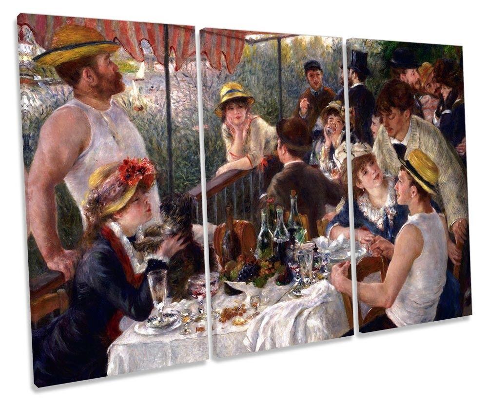 REnero REnero REnero LE DEJEUNER DES canotiers foto TREBLE TELA Wall Art Print aa8a4a