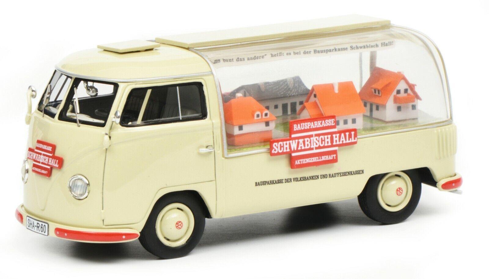 soporte minorista mayorista Schuco Schuco Schuco 1 43 Volkswagen T1a Schwabisch Hall 450902300  descuento de ventas en línea