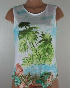 J-Jill-Love-Linen-Women-s-PS-Multi-Color-Shirt-Nautical-Beach-Sleeveless