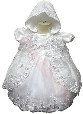 Baby Ragazze Splendido Baby Altamente Dettagliata Con 3 Pezzi Abito Battesimo- Grande Assortimento