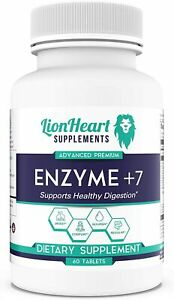DIGESTIVE ENZYMES SUPPLEMENT Enzyme +7 Purified Ox BILE SALTS Gallbladder  60 ct