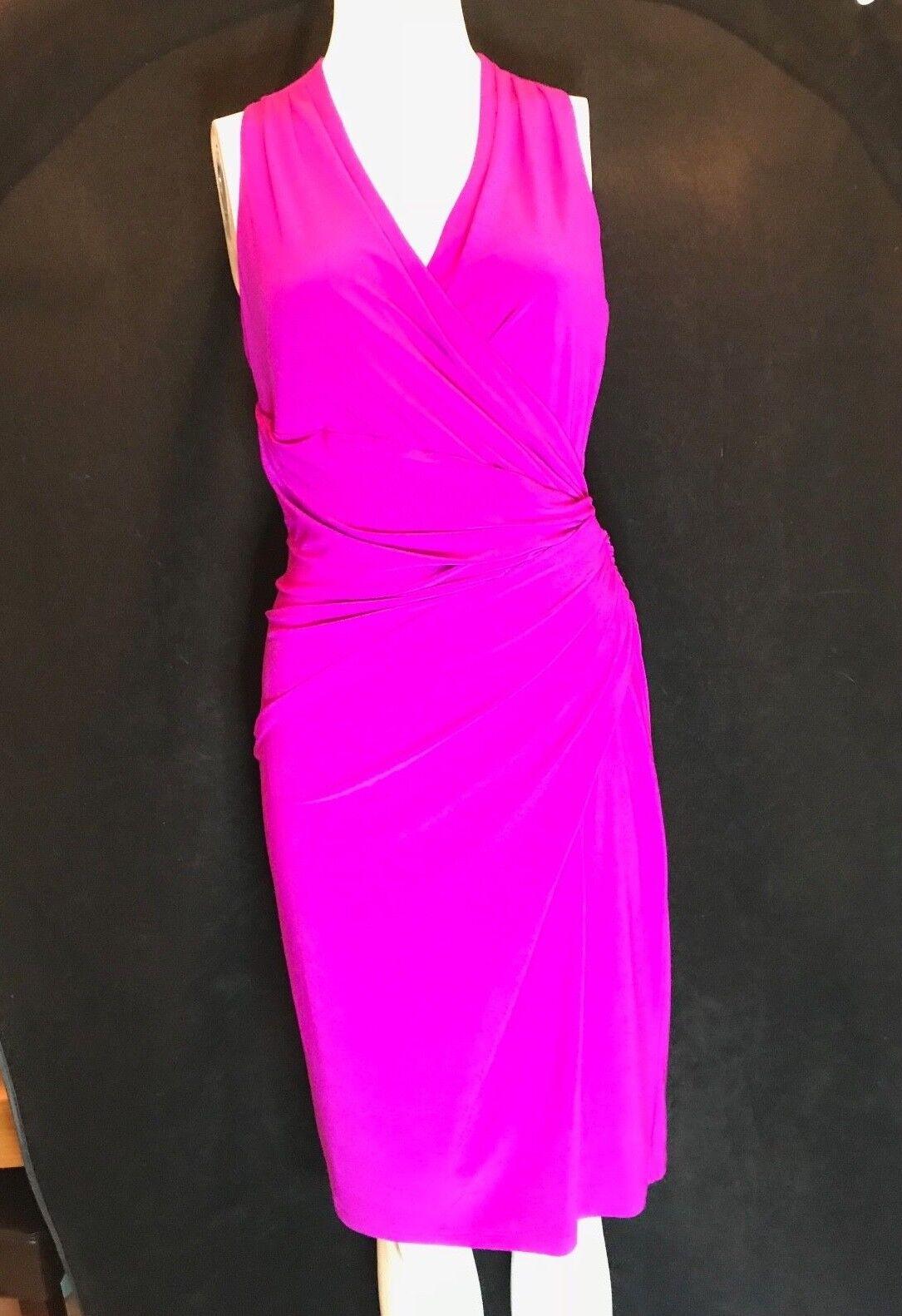 BNWT RALPH LAUREN Cosmopolitan Rosa Sleeveless Bodycon Dress Größe UK S Ralph 6