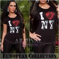 NEW SEXY CASUAL TOP 6 8 10 12 14 WOMENS PRINT T SHIRT XS S M L XL ladies t-shirt