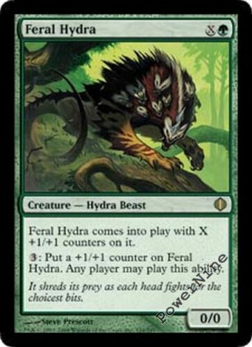 Green Shards of Alara Mtg Magic Rare 1x x1 1 PLAYED FOIL Feral Hydra