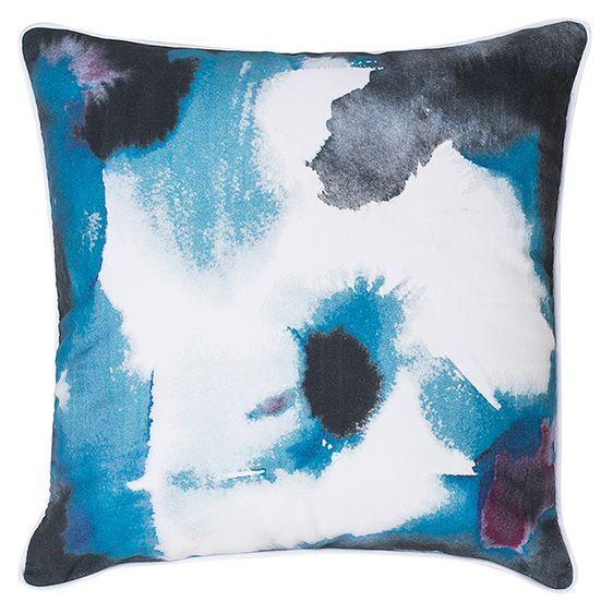 NEW Bambury Paint Cushion, Indigo