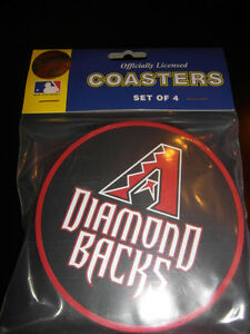1 - 4 Pack Vinyl Drink Coasters - Arizona Diamondbacks